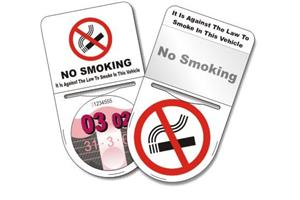 No Smoking Tax Disc Holder With Pocket