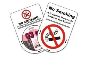 No Smoking Tax Disc Holder