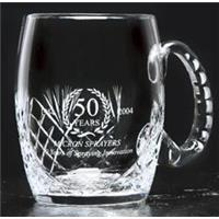 Crystal Cut Tankard 125mm high 66cl capacity