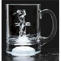 Crystal Golf Ball Base Tankard 140mm high 55cl capacity