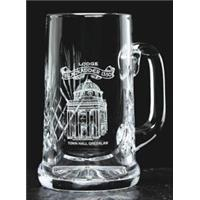 Crystal Cut Tankard 165mm high 55cl capacity