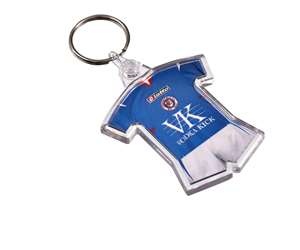 Printed Shaped Clear View Keyrings