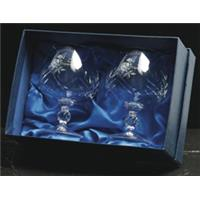 Pair of Brandy Glasses (BB1) in a satin lined box