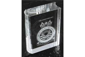 Optical Crystal Book 100Mm High In A Satin Lined Box