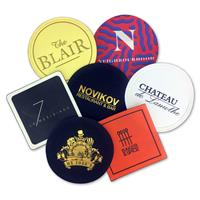 80mm Round Or Square WAX Backed Tissue Cocktail Coaster