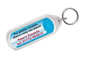 D2 Clear View Plastic Key ring