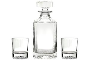 Large decanter (DE1) and 2 tumblers (AWS) supplied in a
