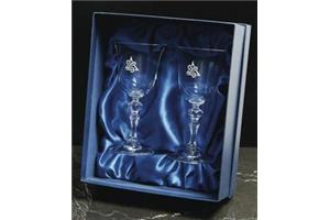 Pair of Crystal Goblets (DOG)