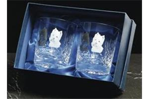Pair of Cut Crystal Tumblers (DW)