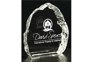 Large Crystal Iceberg Trophy 132mm high in a satin line