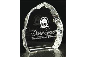 Small Crystal Iceberg Trophy 100mm high in a satin line