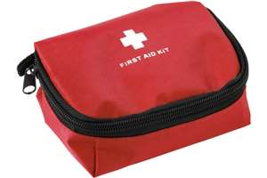 First aid kit in a nylon pouch - new