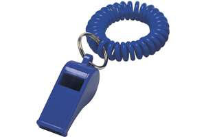 Whistle with wrist cord