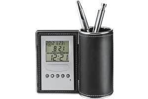 Desk clock/penholder