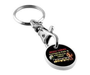 Printed Trolley Token Keyrings