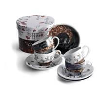 Cappuccino Cups and Saucers