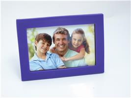 "4 x 6"" Glass Mount With Soft Touch Frame - Purple"