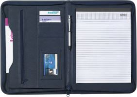 A4 conference folder with zipper