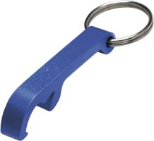 Metal key ring and bottle opener