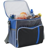 Cooler bag in a 600D polyester material.