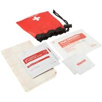 First aid kit in a drawstring bag. 11pc