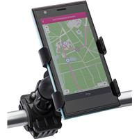 Plastic adjustable mobile phone holder for a bike.