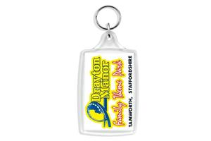 L4 Large Clear View Plastic Key ring