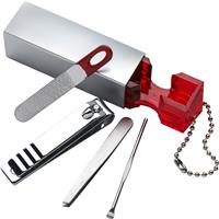 Four piece plastic manicure set.