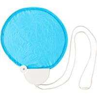 Nylon foldable hand held fan.