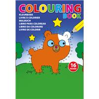 A5 Colouring book with 16 different designs.