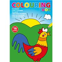 A4 Colouring book with 16 diferent designs.