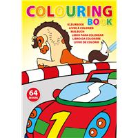 A4 Colouring book with 64 designs.