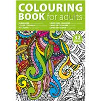 A4 adults colouring book with 32 designs.