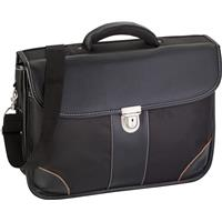 Polyester (1680D) laptop bag.