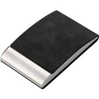 Vertical, curved business card holder.