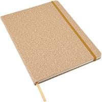 Large notebook with a PU cork effect cover.