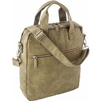 Laptop shoulder bag in a soft PU material.