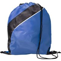 Drawstring backpack made from 201D polyester.