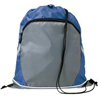 Drawstring polyester backpack.