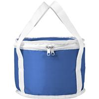 Round cooler bag made from 210D polyester.