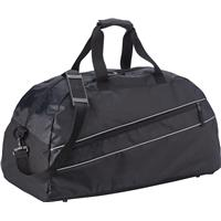 Sports bag with reflective piping.