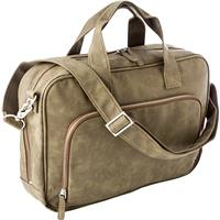 Laptop bag in a soft PU material.