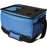 Polyester cooler bag.