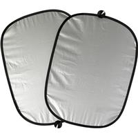 Set of 2 polyester car sun screens.