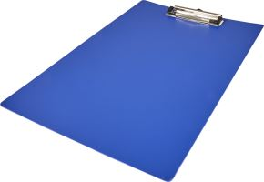 Plastic clipboard to take a maximum of A4 documents.