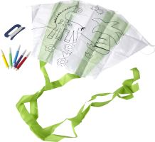 Kite supplied in a pouch with 5 felt tip pens.