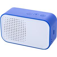 Plastic Bluetooth speaker with USB connection.