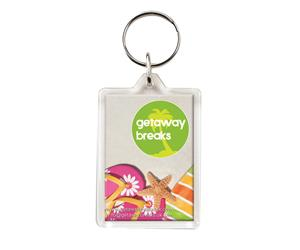 Printed clear view acrylic keyrings