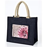 Medium Jute Bag - Black
