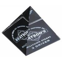 Optical Crystal 60Mm Pyramid With Black Onyx Finish In a satin box
